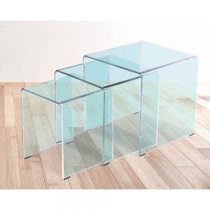 Mesa de cristal Fija Gales
